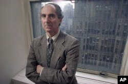 FILE - In this March 1993 file photo, novelist Philip Roth poses for a photo.