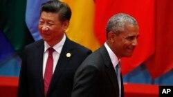 """""""Cuando los vemos violando las normas internacionales, tanto si es en algunas cosas en el Mar de China Meridional o en algunas prácticas comerciales, hemos sido muy firmes y les hemos dicho que habrá consecuencias"""", aseguró el presidente."""