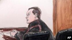 Yevgeny Buryakov, membre présumé d'un réseau d'espionnage russe à New York (AP)