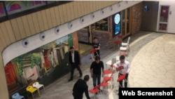 西城區西單大悅城商場持刀行兇案現場(網絡圖片)