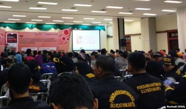 Sekitar 40 organisasi relawan di DI Yogyakarta sudah tergabung dalam aplikasi Wonder. (Foto: VOA/ Nurhadi)