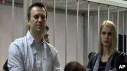 Alexeï Navalny, figure de proue des grandes manifestations de l'hiver 2011-2012 contre le président Vladimir Poutine (AP)