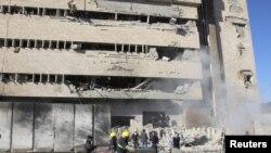 3일 이라크 북부 키르쿠크에서 발생한 폭탄 테러 현장.(자료사진)