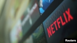 Logo Netflix pada sebuah foto ilustrasi di Encinitas, California, 18 Januari 2017.