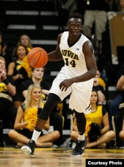 """I have had a lot of ups and downs, but it has made me into a better man and a better player,"" says the University of Iowa's Peter Jok. (University of Iowa photo)"