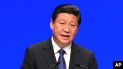 Chủ tịch Trung Quốc Tập Cận Bình trong chuyến công du châu Âu tháng 4/2014.
