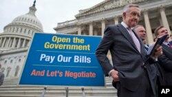 2013年10月9日内华达州参议院多数党领袖哈里·里德在国会