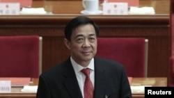 Bo Xilai, secretário do partido comunista de CVhongqing durante uma sessão do Congresso Nacional do Povo em Pequim (9 de Março)