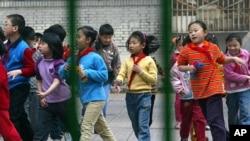 北京学校里的儿童