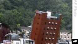 台风莫拉克肆虐中国东部