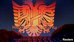 "Logo kelompok peretas Kosovo, ""Kosova Hackers Security"", yang diduga dipimpin oleh tersangka Ardit Ferizi (foto: dok)."
