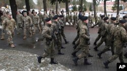 Zaga, Poloni, 12 janar 2017: Zyrtarët u shprehin mirëseardhjen trupave amerikane
