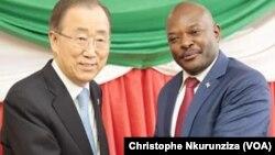 Babban sakataren MDD Ban Ki-moon da shugaban Burundi Nkurunziza