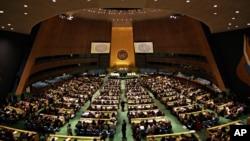 نمایی از صحن مجمع عمومی سازمان ملل متحد