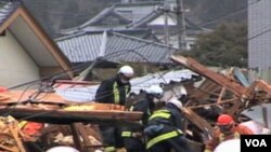 Rescue operations in Japan