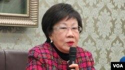 台灣前副總統呂秀蓮(美國之音張永泰拍攝)