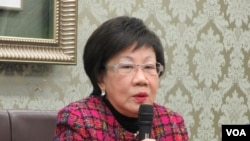 台湾前副总统吕秀莲(美国之音张永泰拍摄)