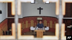 A priest gives a sermon in a temple in Rabat (File)