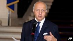 لوران فابیوس وزیر امور خارجه فرانسه