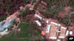 Супутниковий знімок ядерного полігону в Пунгірі (Північна Корея)