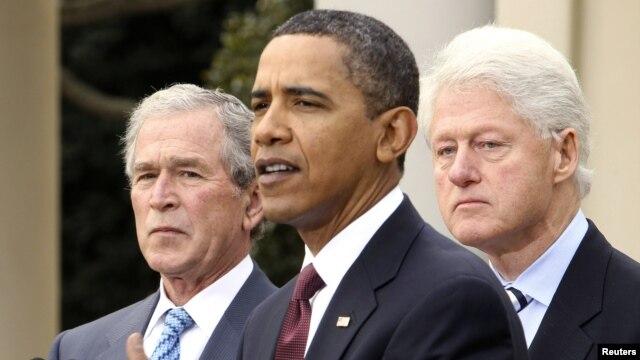 Sobiq rahbarlari jamoat e'tiborini tortish va xayr-ehsonni jamlash talantiga ega. Barak Obama 2010-yilda Gaitidagi kuchli zilziladan keyin elni birlashtirish uchun sobiq prezidentlar Bush va Bill Klintonni yordamga chorladi.