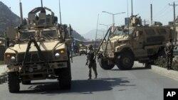 Tentara AS melakukan patroli di Kabul, Afghanistan (foto: ilustrasi).