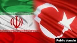 Iran - Turkey Flag