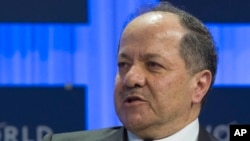 FILE - Masoud Barzani, president of Iraq's Kurdistan Region, says he's focused not only on fighting Islamic State but also on making sure that another group like it does not emerge.