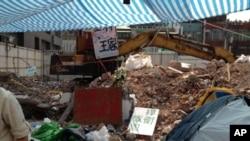 台北王家住宅被拆除現場