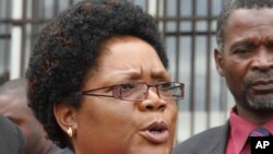 Zimbabwe's former vice president, Joice Mujuru.