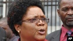 Zimbabwe Acting President Joice Mujuru.