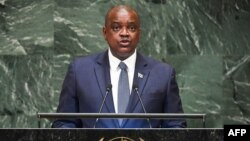 Mokgweetsi Masisi, president of Botswana, gives a speech during the General Debate of the 73rd session of the General Assembly at the United Nations in New York, Sept. 27, 2018. Masisi has signaled his support for the rights of LGBT citizens.