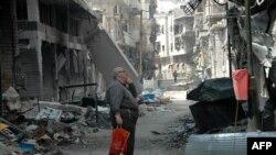Dîmen ji bajarê Humsê.