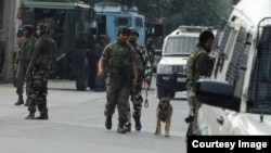 Strict security in Indian administered Kashmir