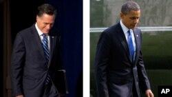 美國總統奧巴馬和他的共和黨挑戰者羅姆尼星期四在維吉尼亞競選