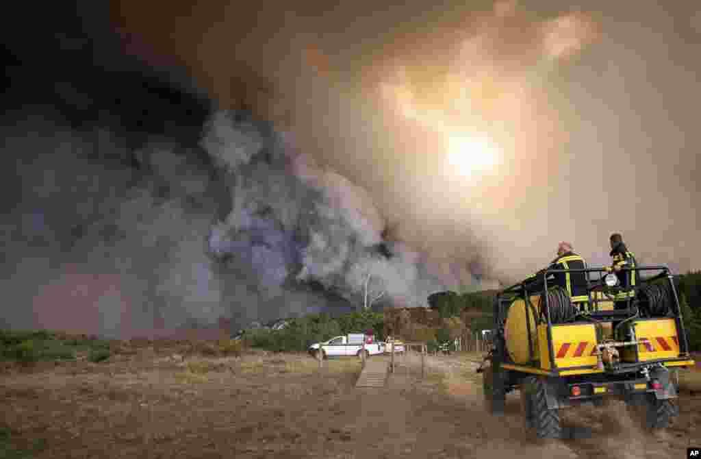 Cənubi Afrika - Kranşok bölgəsində yanğınlar