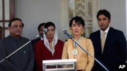 پاکستانی صدر کی سوچی سے ملاقات میں بلاول اور آصفہ بھی موجود تھے