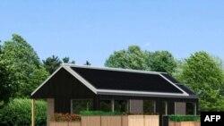 Một kiểu nhà do sinh viên trường cao đẳng Middlebury thiết kế và xây với hệ thống tiếp thu năng lượng mặt trời