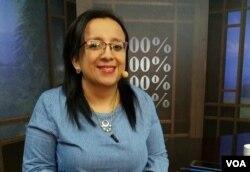 Lucía Pineda Ubau, jefa de prensa de 100% Noticias. [Foto: Donaldo Hernández]