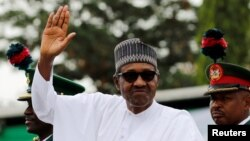 Le président nigérian Muhammadu Buhari, à Abuja, au Nigéria, le 29 mai 2019.