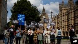 英國倫敦的反戰示威