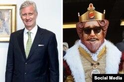 فیلیپ پادشاه بلژیک و پادشاه برگر کینگ