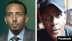 Andualem Arage, left, and Eskinder Nega have refused to sign letters of pardon from the Ethiopian government.