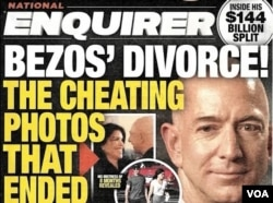 The National Enquirer cover featuring Jeff Bezos' divorce.