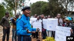 Une manifestation à Butembo, RD Congo, 12 novembre 2016.