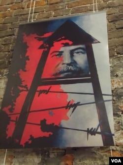 苏联解体后90年代的宣传画(美国之音白桦拍摄)