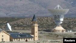 在阿根廷拉斯拉哈斯看到的中國空間站的設施。(2019年1月22日)