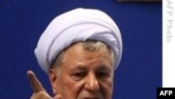 رفسنجانی از تلاش برای «حل بحران» در ایران خبر داد