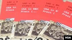 Katalog izložbe ''SAD u bh. štampi od Velikog rata''