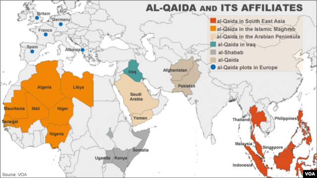 al-Qaida and Its Affiliates Worldwide